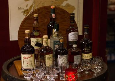 Verschiedenste Whiskysorten